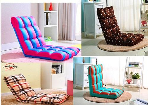 Beli foldable sofa murah. A.k.a pullout sofa, adjustable lazy sofa, tatami sofa, Japanese sofa, sofa lipat, sofa jepun, kusyen lipat,  Sofa Bed & Sofa Chair Premium Fabric Foam Foldable 110CM