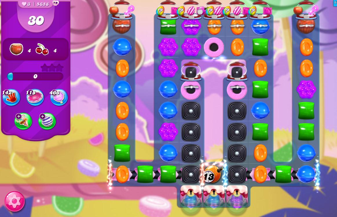 Candy Crush Saga level 5658