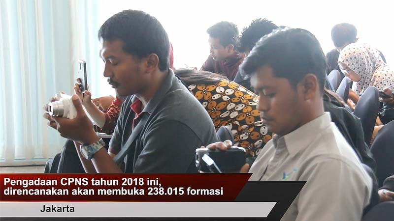 Pemerintah Buka 238 Ribu Formasi CPNS Tahun 2018