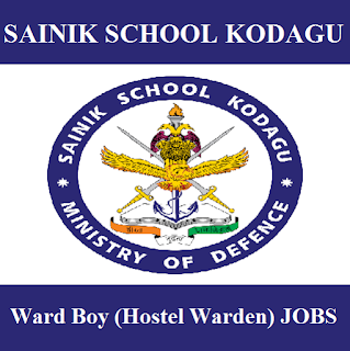 Sainik School Kodagu, Karnataka, Sainik School, Ward Boy, 10th, freejobalert, Sarkari Naukri, Latest Jobs, sainik school logo
