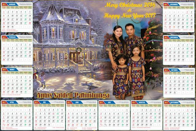 Template Kalender 2017 setiap bulan File JPG dengan kualitas HD
