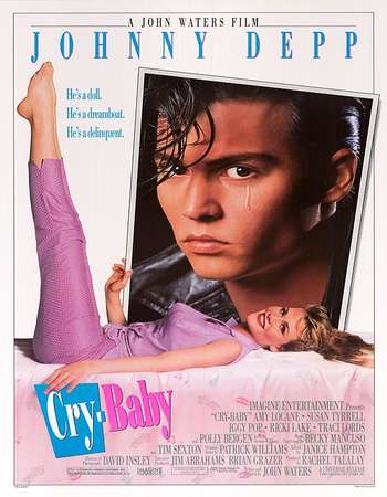 Poster Of Cry-Baby 1990 English 250MB BRRip 480p ESubs Watch Online Free Download downloadhub.in