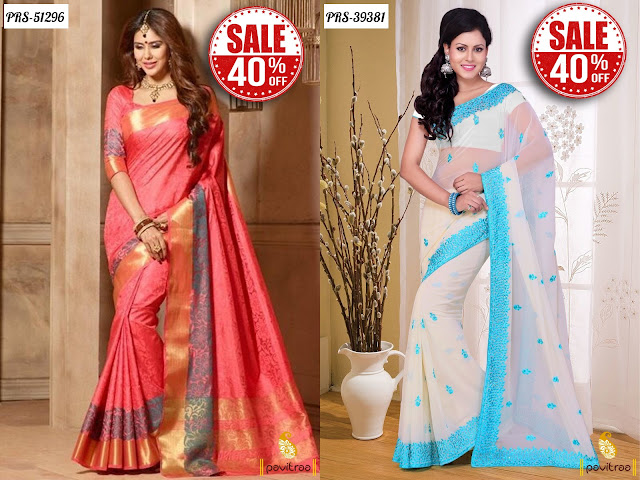 Women's day special gift casual wear sarees sale online