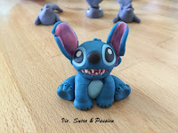 Fondant Stitch figure for cake