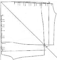 colocamos el molde delantero en sentido vertical y el posterior en vertical