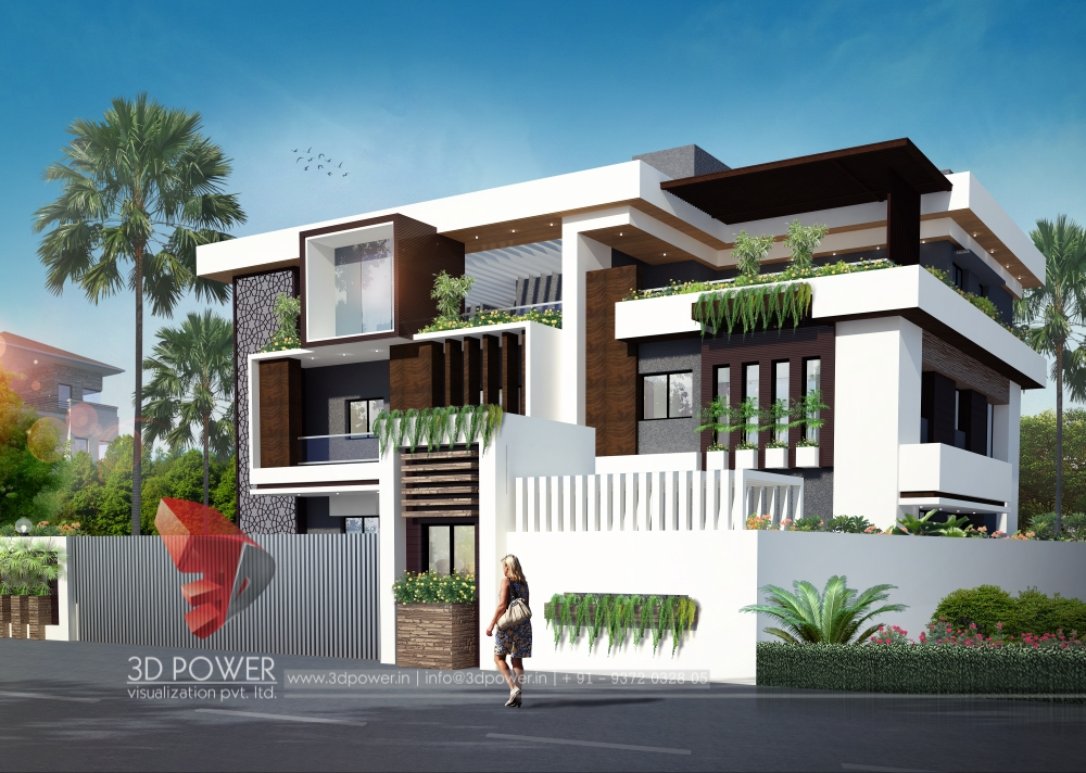 Tags: 3d Contemporary Bungalow Designs, 3d Bungalow Design, 3d Contemporary  Bungalow Exterior Rendering, Contemporary 3d Bungalow Animation  Walkthrough, ...