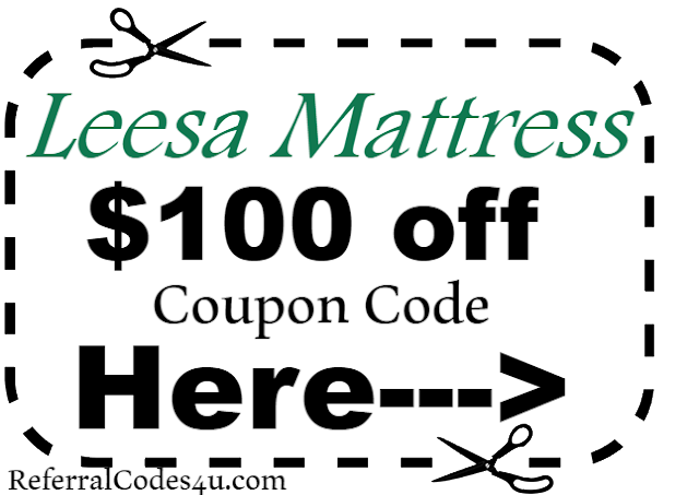 $100 off Leesa Mattress Coupon Code 2018 Jan, Feb, March, April, May, June