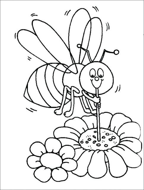 صورة نحلة للتلوين