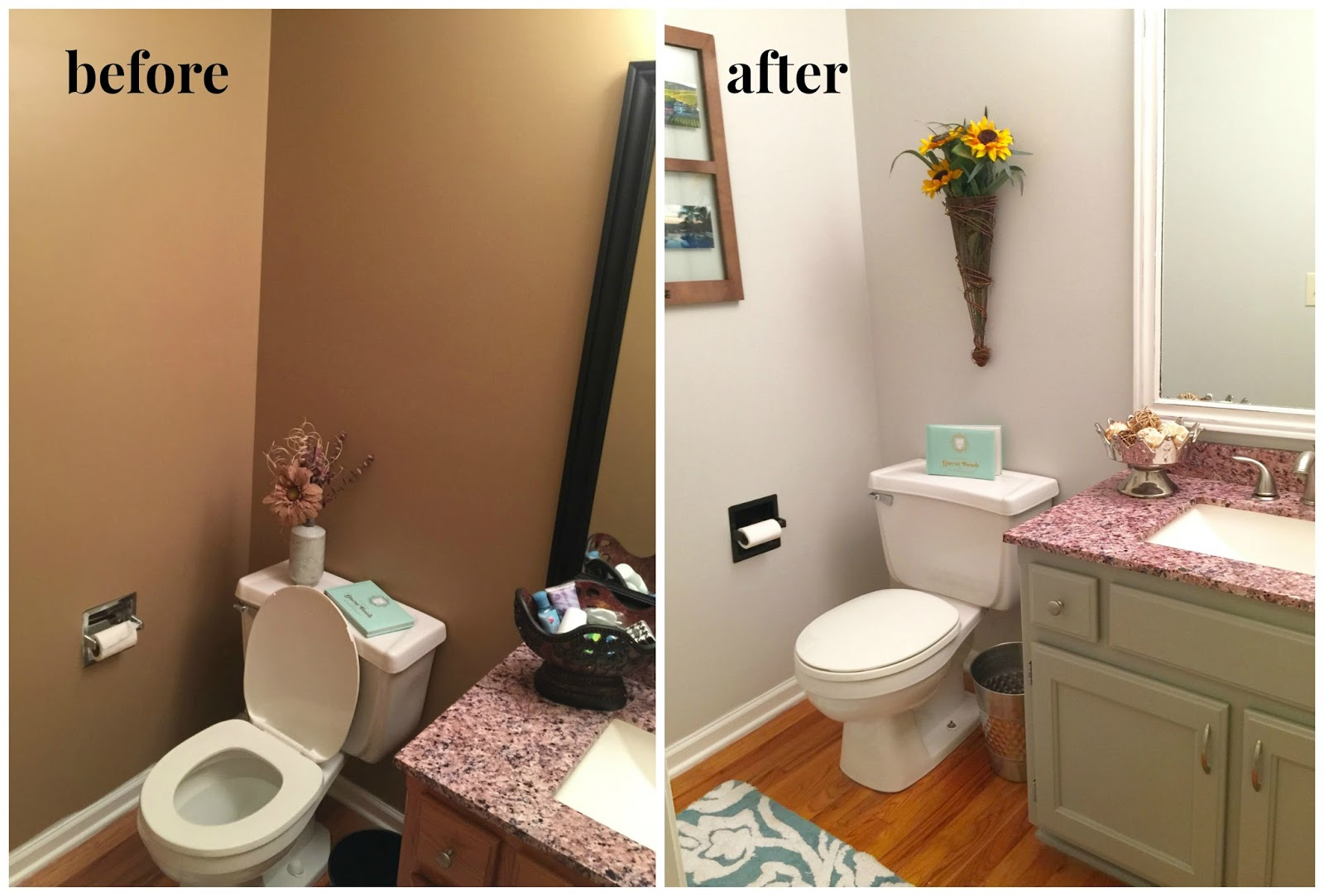 TLC For The Forgotten Half Bath With Valspars Tempered Gray - Valspar bathroom paint