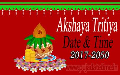 2017 to 2050 Akshay Tritiya Date