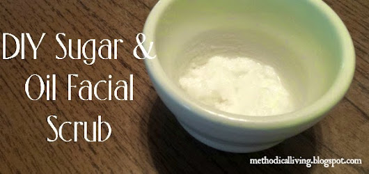 Sugar and Coconut Oil Facial Scrub
