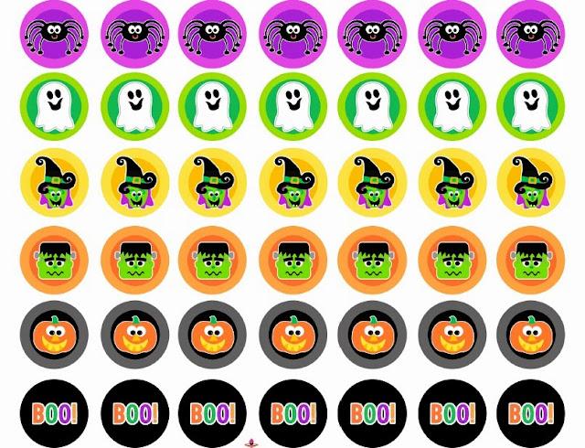 Boo! Etiquetas o Toppers para Halloween para Imprimir Gratis.