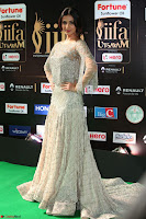 Sonal Chauhan in a stonework Floor Length Silver Designer Gown at IIFA Utsavam Awards March 2017 032.JPG