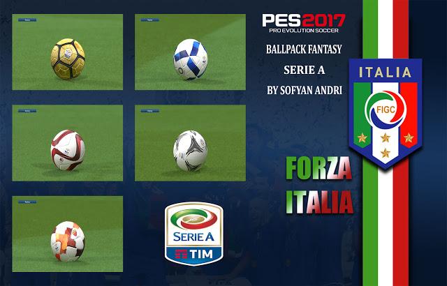 PES 2017 Serie A Fantasy Ball Pack dari Sofyan Andri