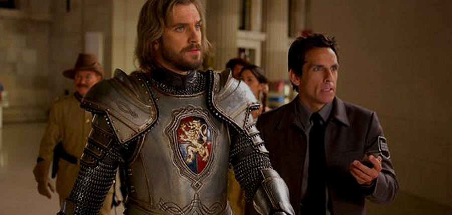 Ben Stiller şi Lancelot în Night At The Museum: Secret Of The Tomb