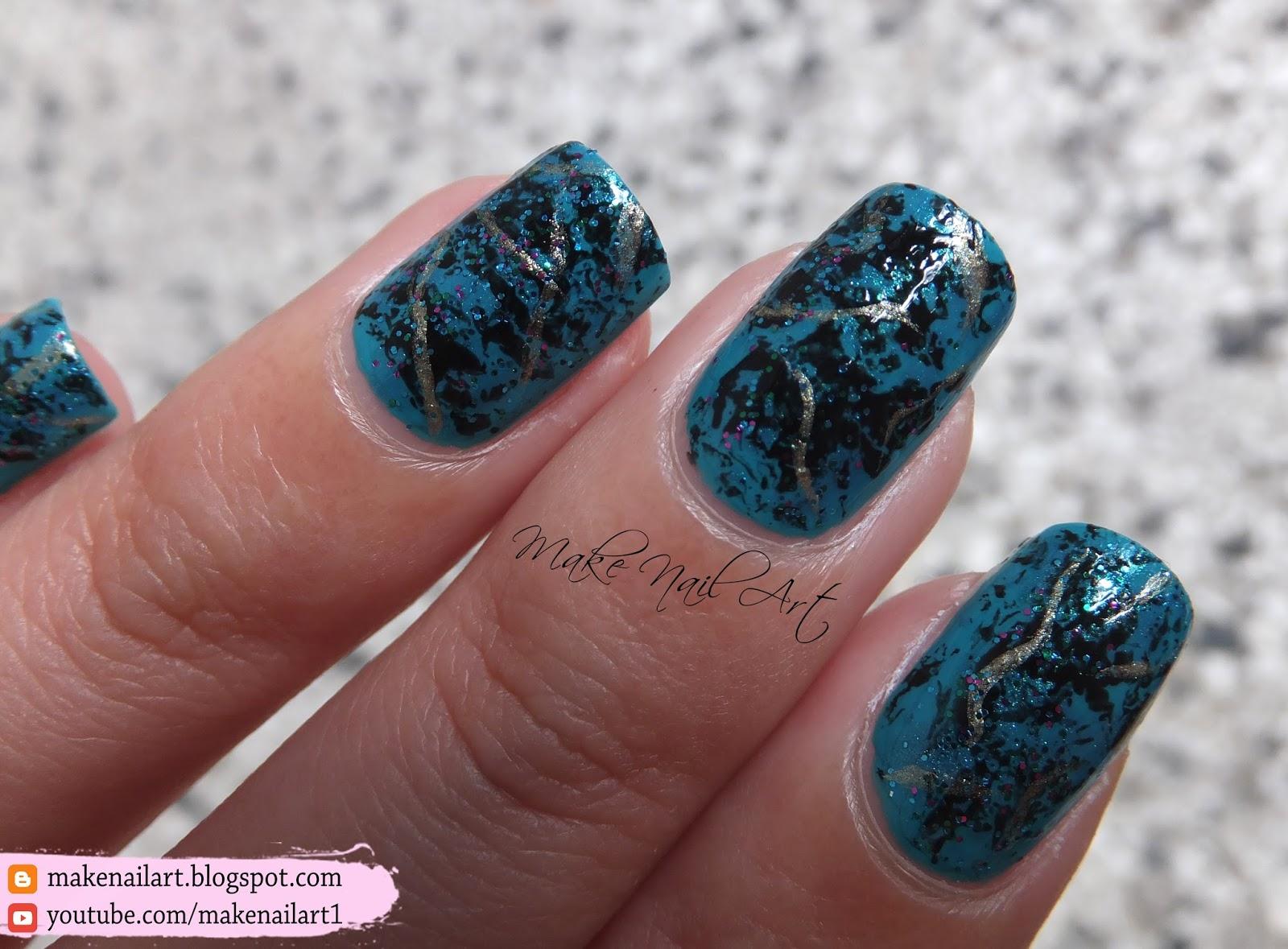 Make Nail Art: Turquoise Stone Nail Art Design Tutorial