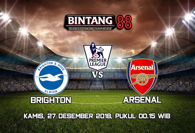 Prediksi Brighton & Hove Albion vs Arsenal 27 Desember 2018