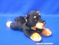 Dobie Doberman Pinscher Plush Stuffed Animal Dog Russ