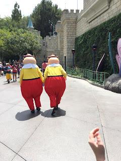 Tweedledee and Tweedledum Disneyland Alice Bathroom