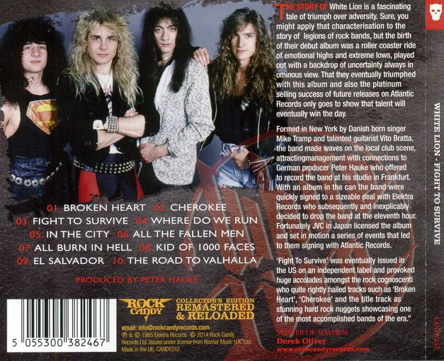 WHITE LION - Fight To Survive [Rock Candy remastered & reloaded] back