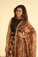 Lasya looks super cute in black choli Saree at Raja Meru Keka Press Meet ~  Exclusive 103.JPG