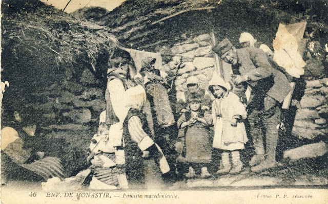 Macedonian family and a French soldier