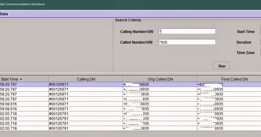 Ciscoshizzle: Using RTMT to trace calls