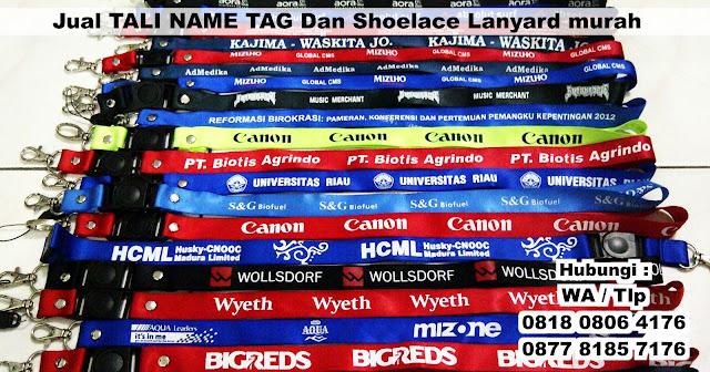 Jual TALI NAME TAG Dan Shoelace Lanyard murah