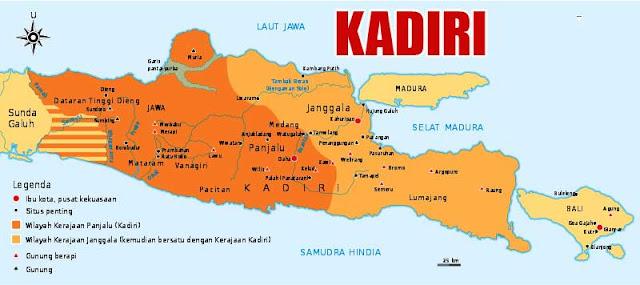 Gambar Peta wilayah Kerajaan Kediri