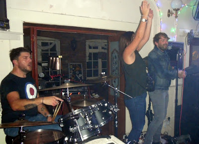 Renowed band The Dirty Pitchers performing at the Exchange Bar in Brigg during September 2018 - see Nigel Fisher's Brigg Blog