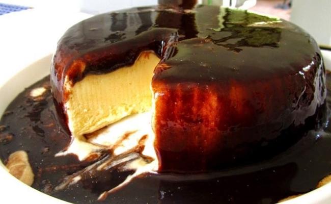 Pudim de Leite Condensado e Chocolate