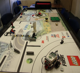 lego robot obstacle course