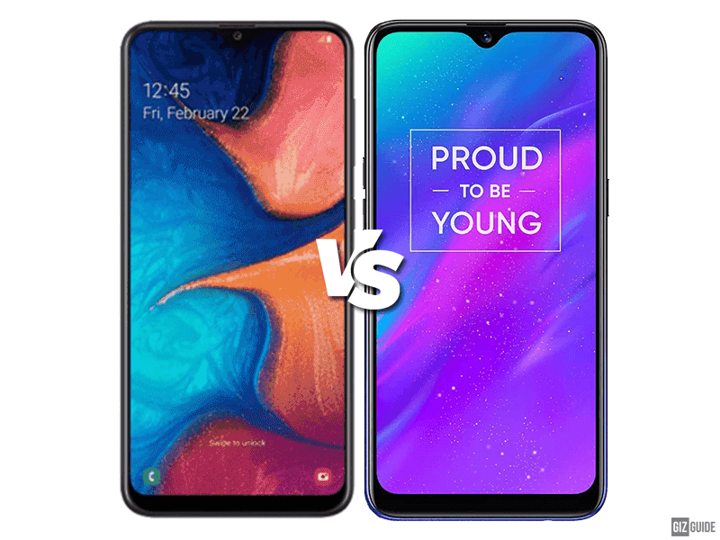 Samsung Galaxy A20 vs realme 3 Specs Comparison