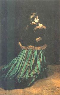 Claude Monet : la dame en robe verte  Camille,  modèle et épouse de Monet