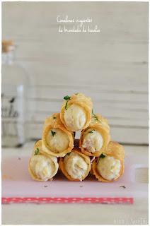 Canelones crujientes de brandada de bacalao- aperitivo- entrante- pincho-receta fácil- receta sencilla