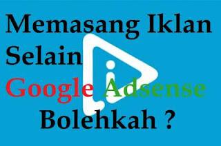 memasang iklan selain google adsense