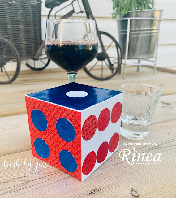 Giant Dice Using Rinea Foiled Paper