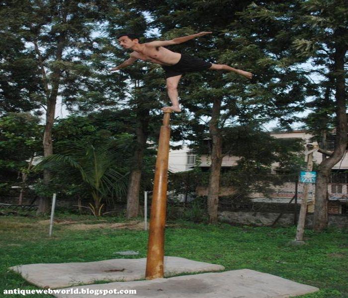 Antique web world Indian Pole dance Mallakhamb
