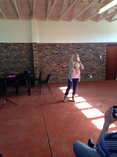 Jill Kemp performing at Keiskamma in South Africa