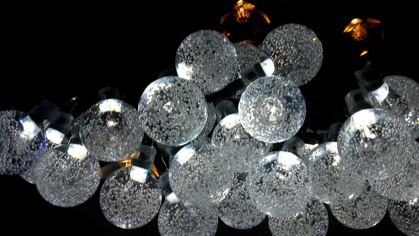 lahr2006 testet: Light-up 30er LED Solar Lichterkette Außen Kristall ...