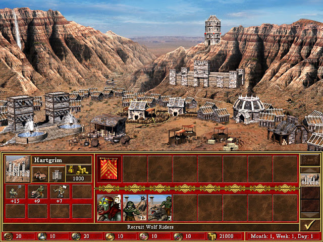 City Screen | Heroes of Might and Magic 3