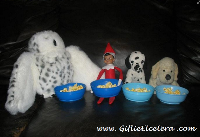 Elf on the Shelf Ideas, popcorn