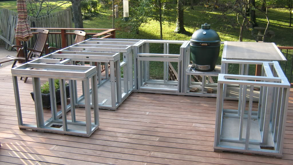 How To Build An Outdoor Kitchen With Metal Studs Help