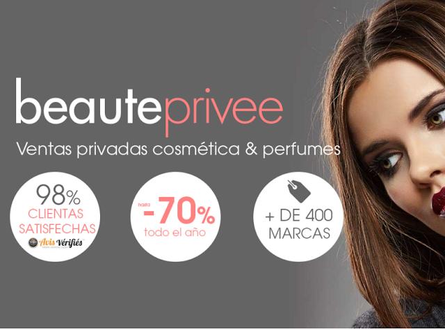 Beauteprivee primera página de ventas privadas de cosmética y belleza con descuentazos