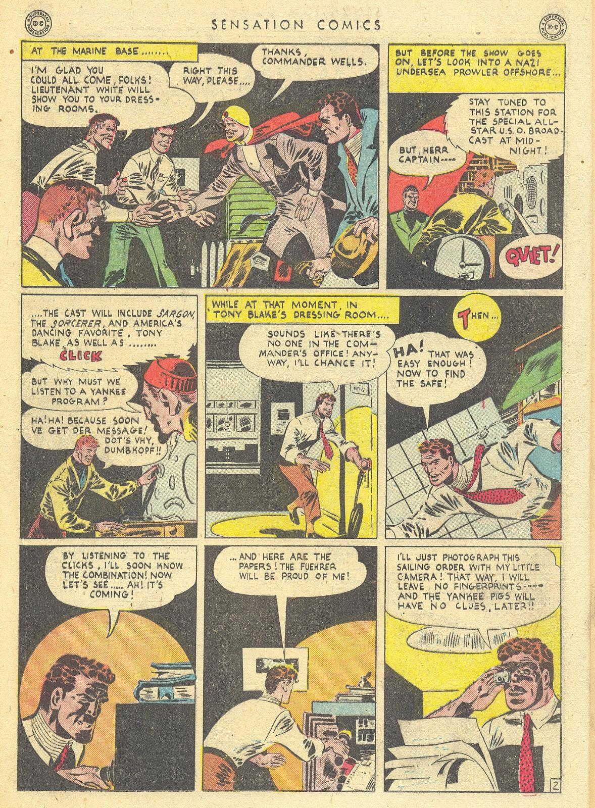 Read online Sensation (Mystery) Comics comic -  Issue #35 - 18