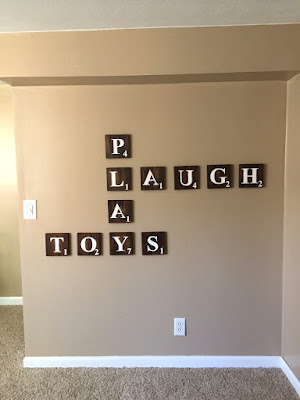 DIY scrabble wall tiles