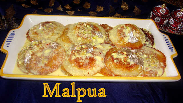 images of Malpua Recipe / Malpua Rabdi Recipe /  Indian Pancake Dessert / Malpoa Recipe - Holi Special