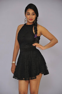 Actress Bhanu Sri Stills in Black Short Dress at Dandu Movie Audio Launch  0005.jpg