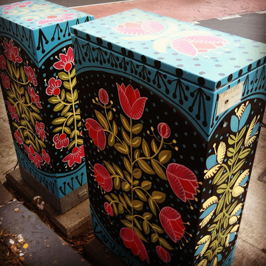 Kasia Jacquot - Textile Folk Artist: Polish folk art on Sydney streets.