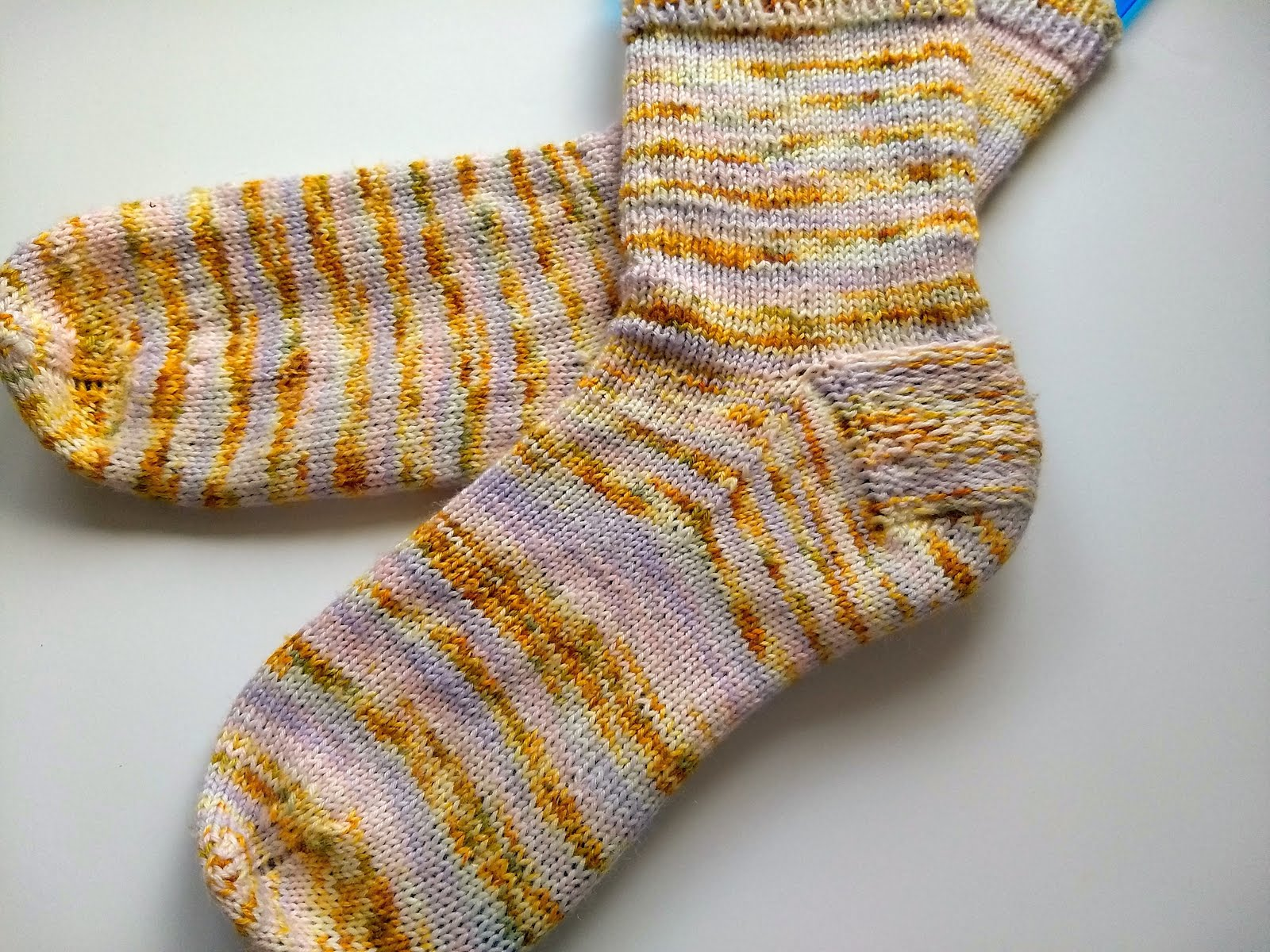 Cuff down socks for a beginner knitter
